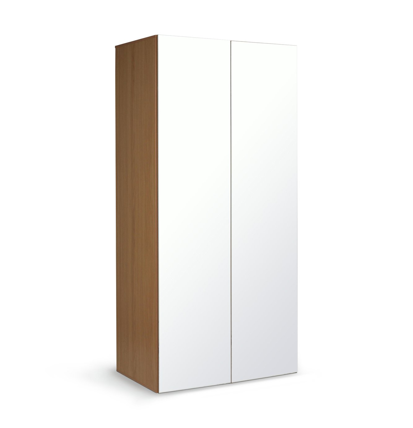 Argos Home Atlas 2 Door Mirrored Tall Wardrobe