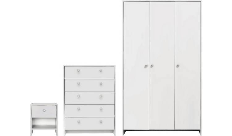 Argos Home Seville 3 Piece 3 Door Wardrobe Package - White