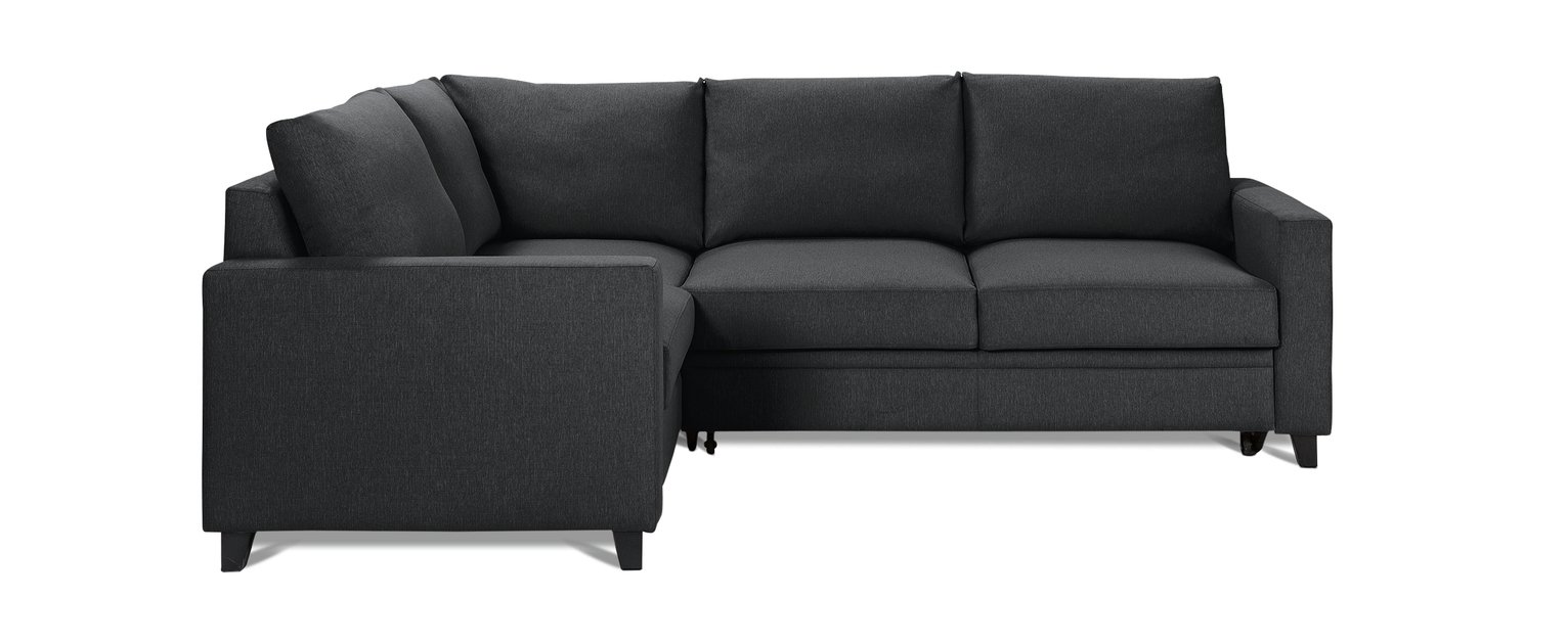 Argos Home Seattle Left Corner Fabric Sofa Bed - Charcoal