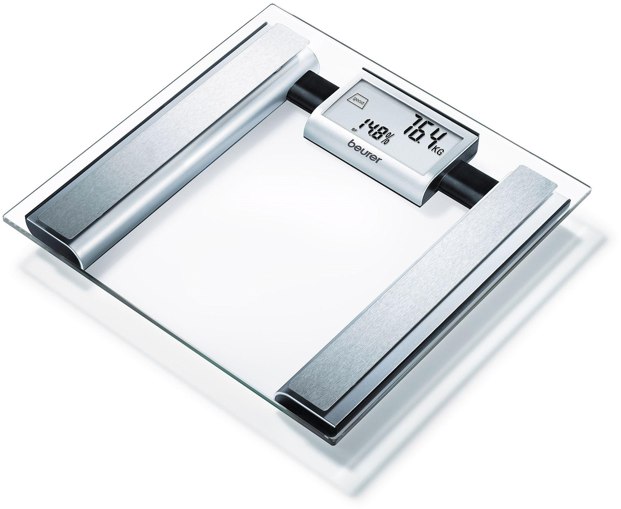 Image of Beurer BG39 Glass Body Weight Analysis Scale - Clear