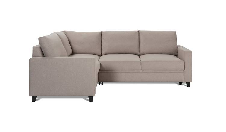 Habitat Seattle Left Corner Fabric Sofa Bed - Natural