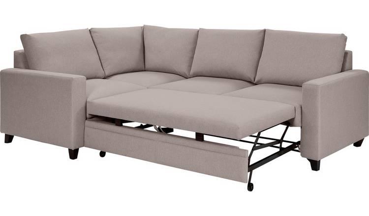 Buy Argos Home Seattle Left Corner Fabric Sofa Bed - Natural | Sofa beds |  Argos