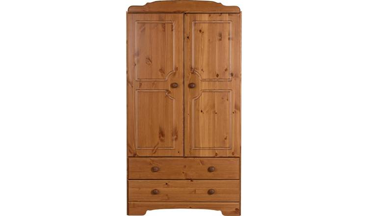 Argos Home Nordic 2 Door 2 Drawer Short Wardrobe - Pine