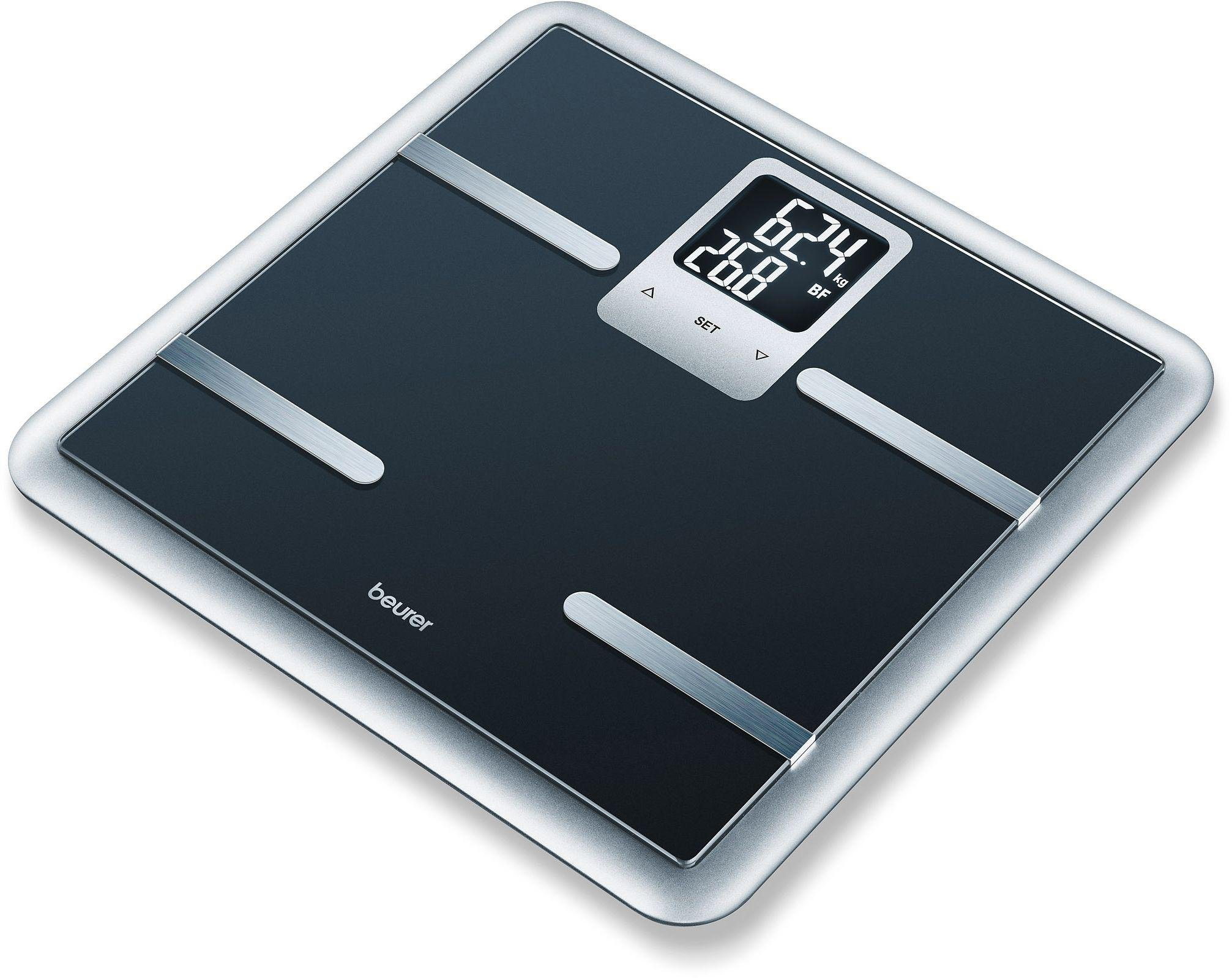 Image of Beurer BG40 Luxury Glass Body Weight Analysis Scale - Black