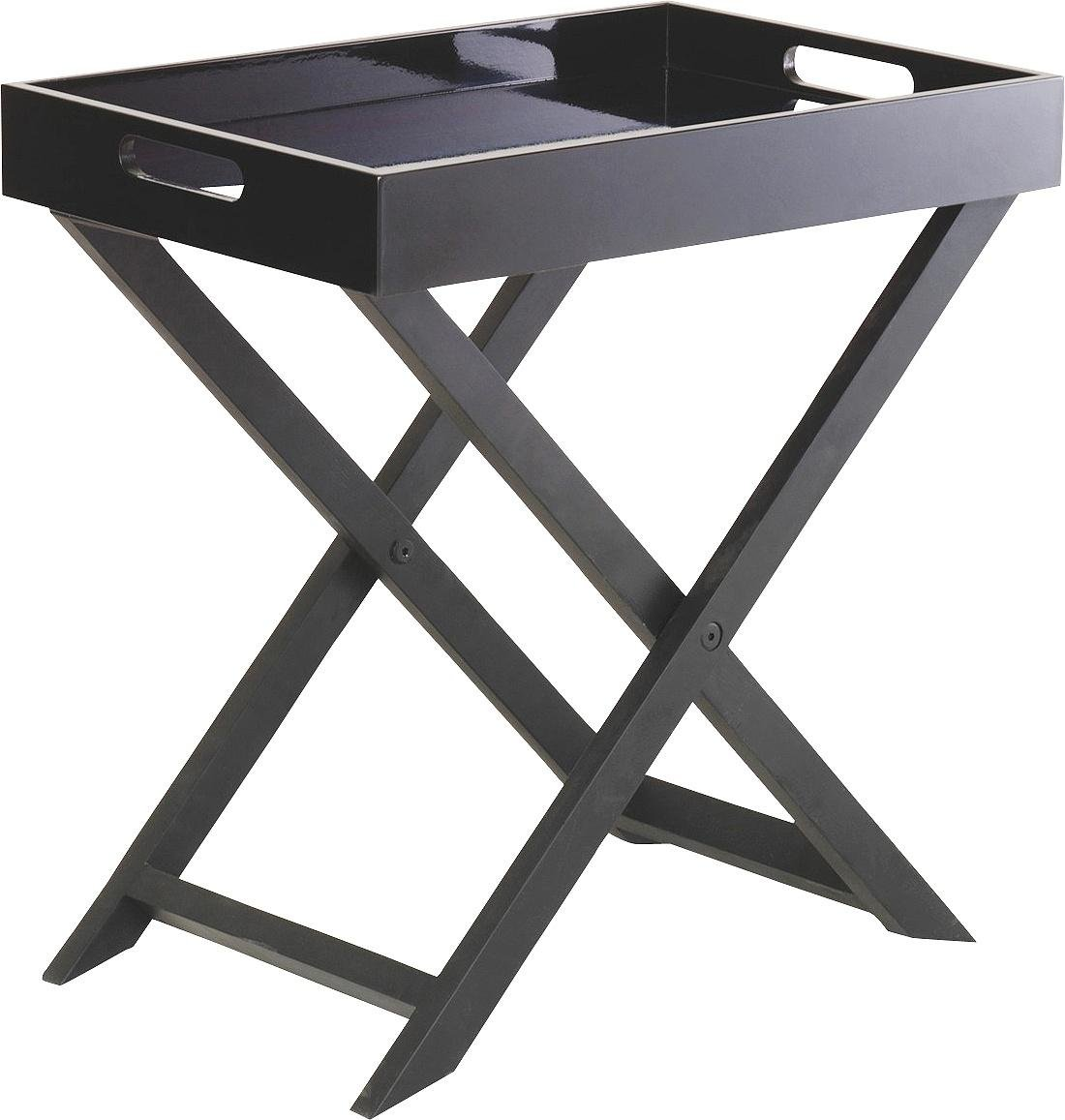 Habitat Oken Small Occasional Table - Black