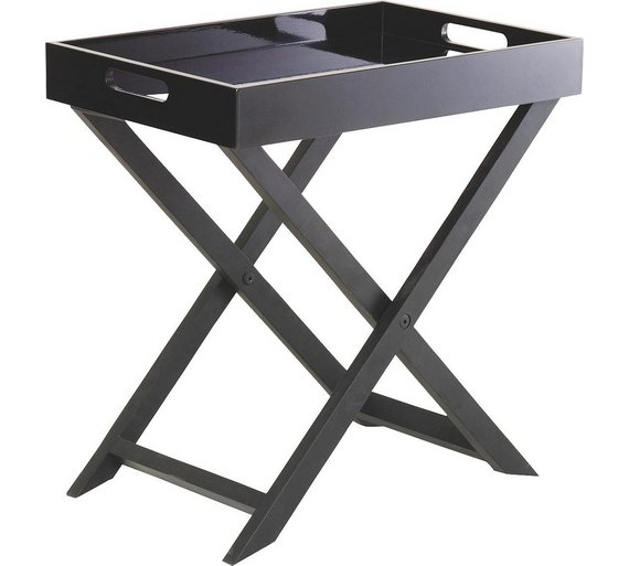 Buy habitat oken small occasional table black at argos for Sofa table argos