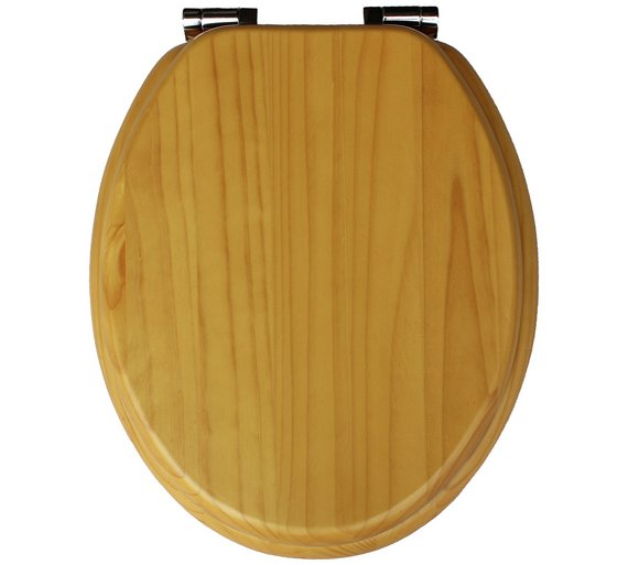 Collection Solid Wood Slow Close Toilet Seat  Light Oak Buy at