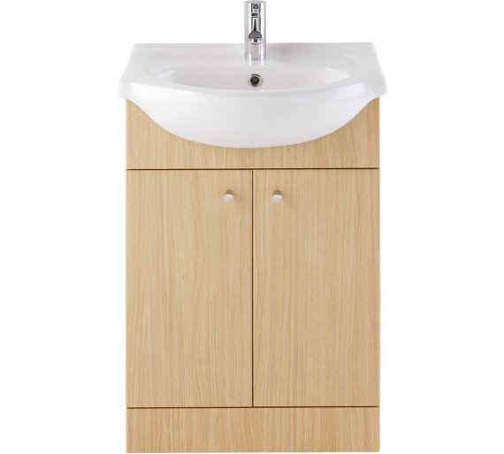 Buy Eliana Ferne 550mm Oak Effect Vanity Unit and Basin at Argos.co.uk - Your Online Shop for ...