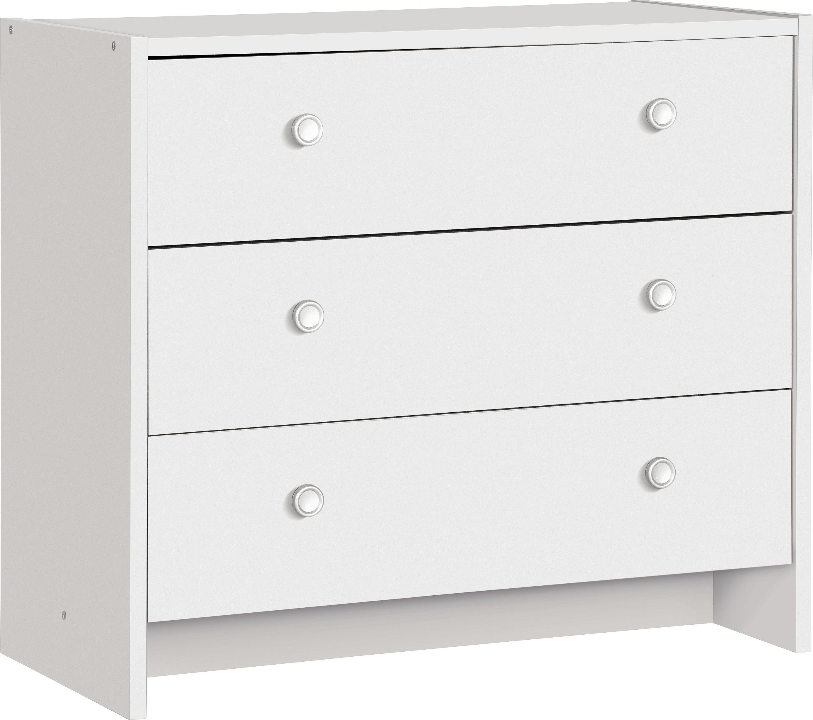 sale on home seville 3 drawer chest white home by. Black Bedroom Furniture Sets. Home Design Ideas