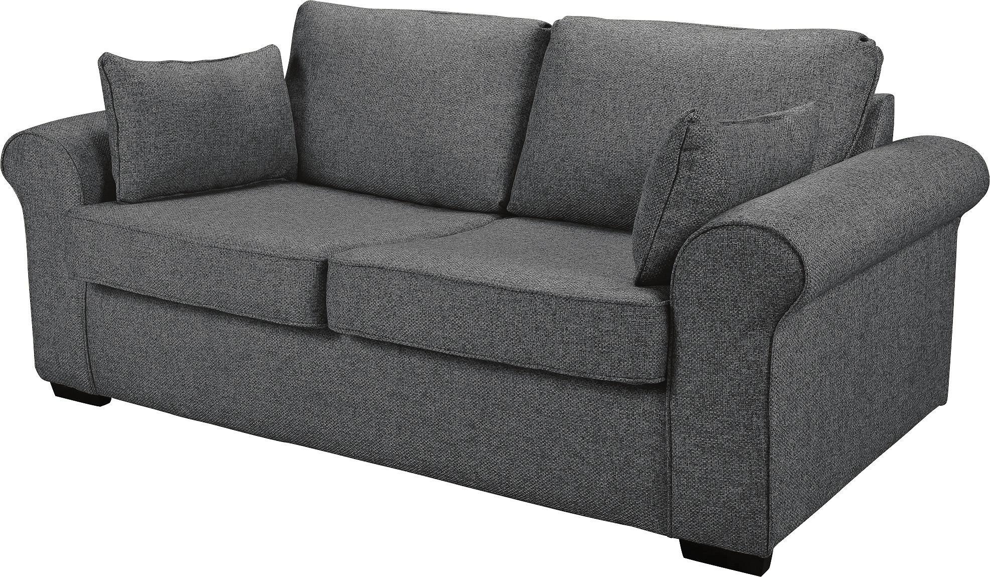Argos Home Erinne 2 Seater Fabric Sofa Bed - Grey