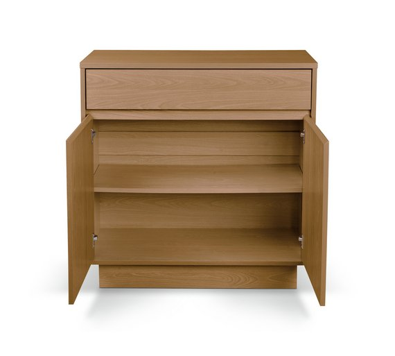 Buy Home Cubes 2 Door 1 Drawer Small Sideboard Oak Effect At Your Online Shop