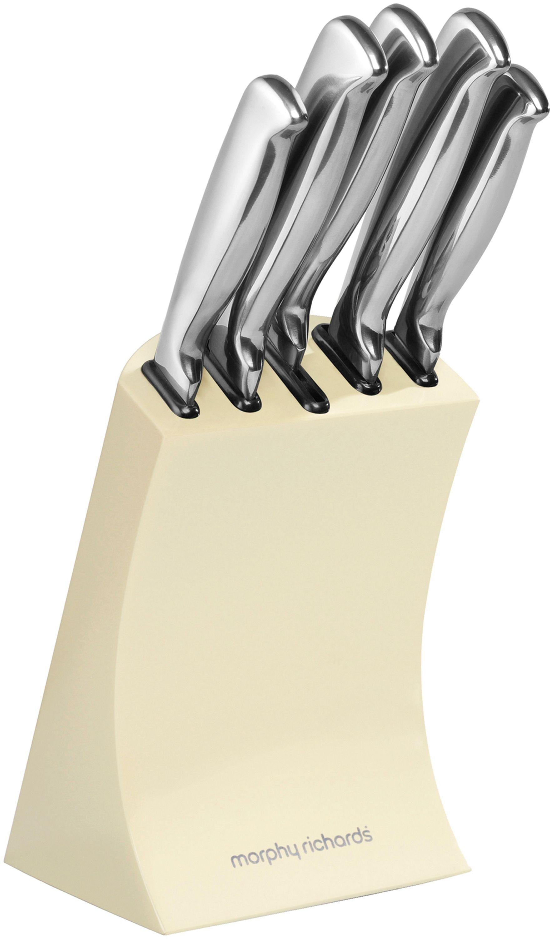 Morphy richards accents piece knife block cream