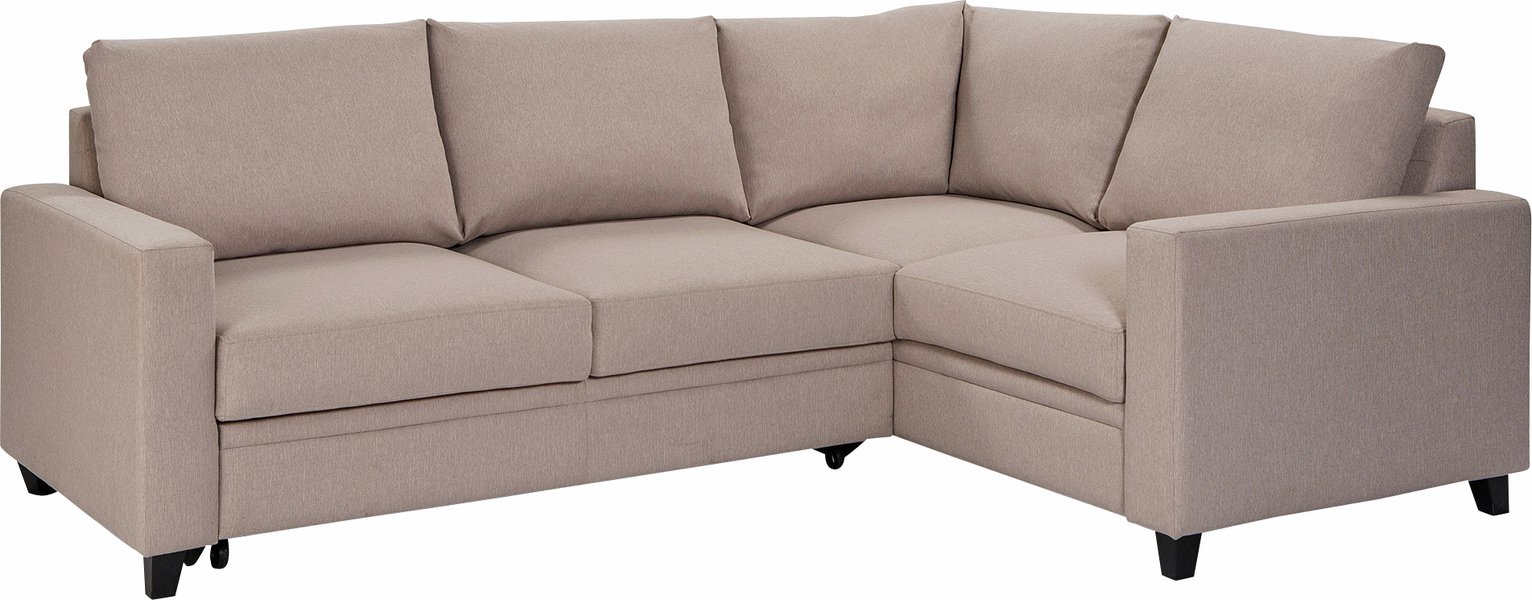 Argos Home Seattle Right Corner Fabric Sofa Bed - Natural