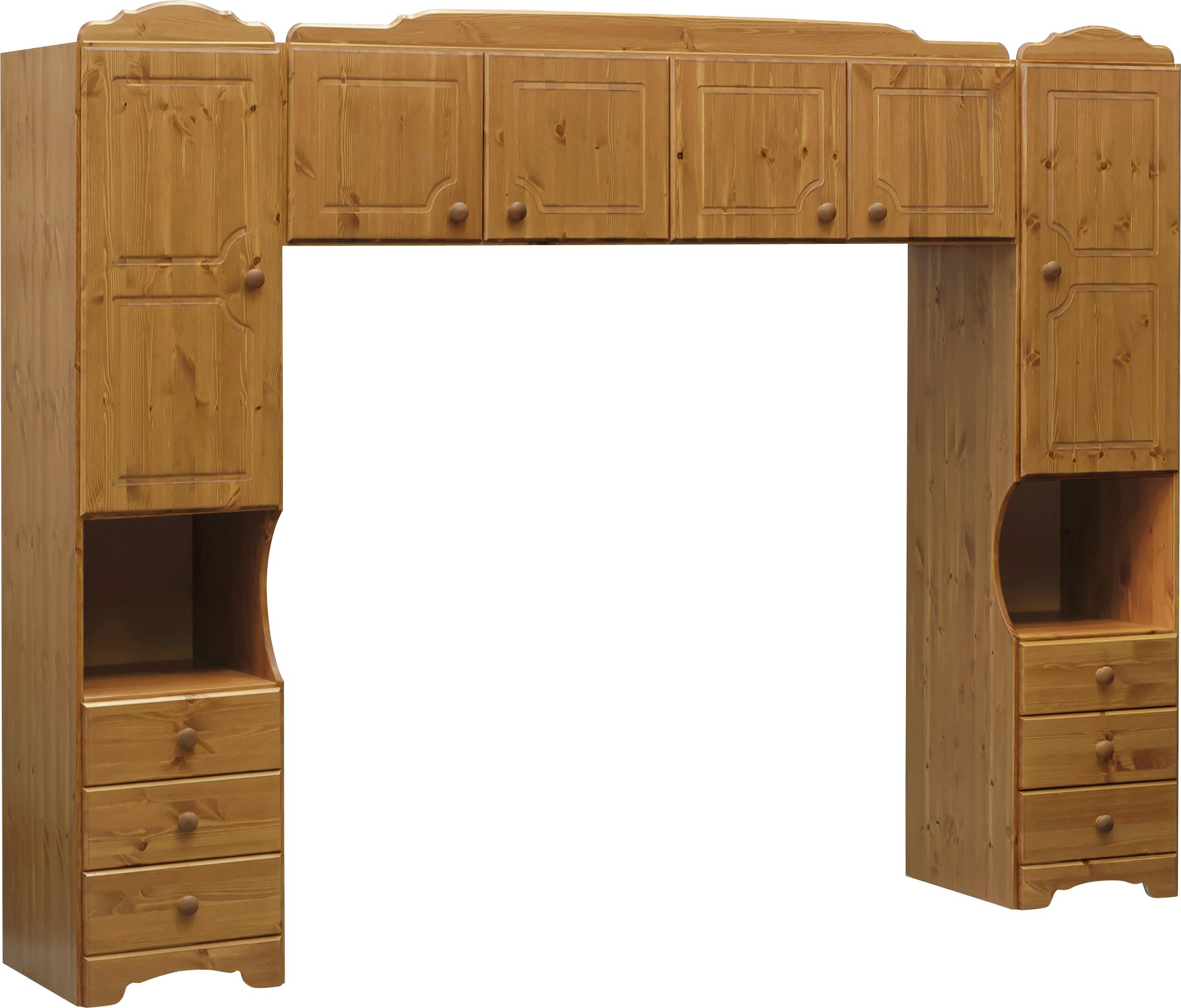 Argos Home Nordic Overbed Fitment - Pine
