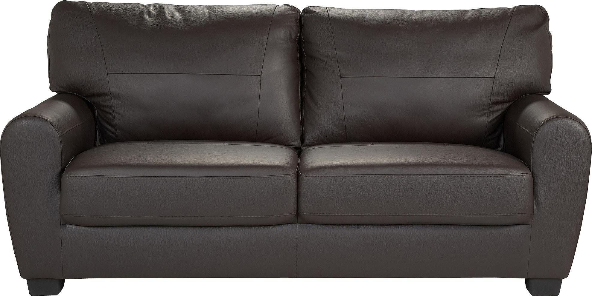 Argos Home Stefano 3 Seater Faux Leather Sofa - Chocolate