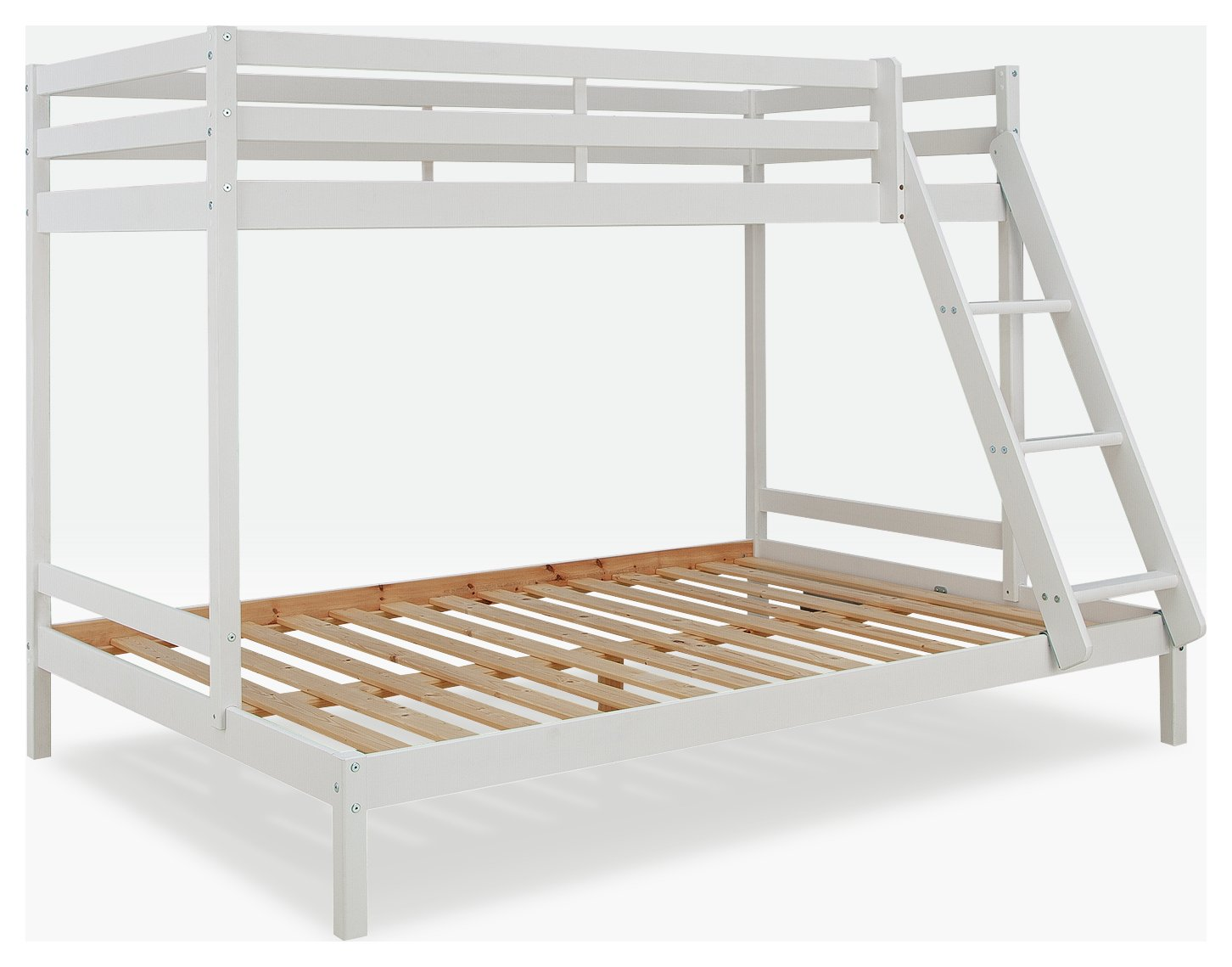 Argos Home Kaycie Single and Double Bunk Bed Frame - White