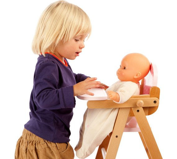 buy tidlo wooden folding doll high chair at. Black Bedroom Furniture Sets. Home Design Ideas