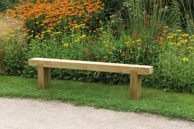 Forest Wooden 4 Seater Garden Bench