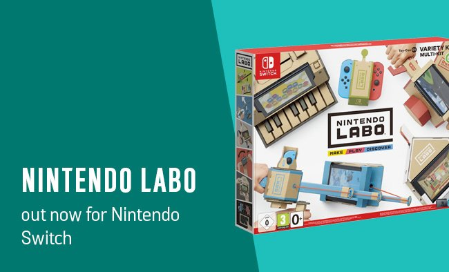 Out now for Nintendo Switch: Labo.