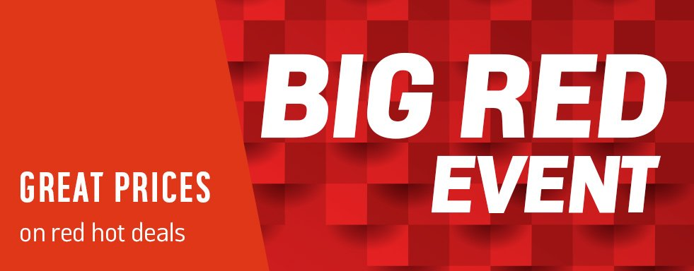 Big red event. Red hot deals.