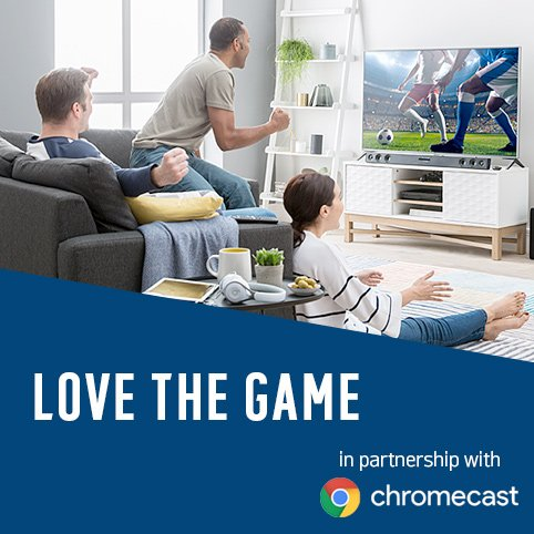 Love the game. Play shoot score in partnership with Google Chromecast.