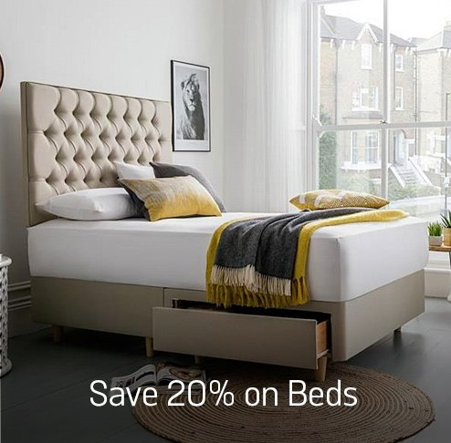 Save up to 20% on selected beds.