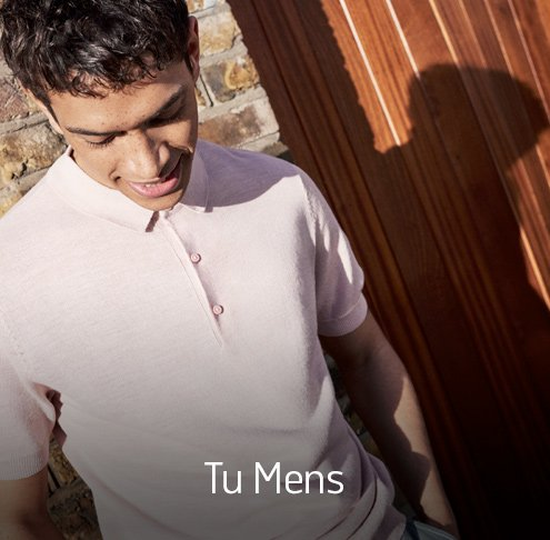 Men's Tu clothing. New in. Shop now.