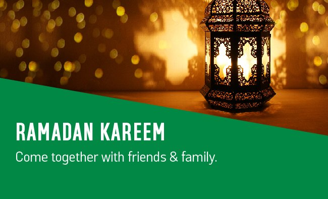 Ramadan Kareem. Come together with friends and family.