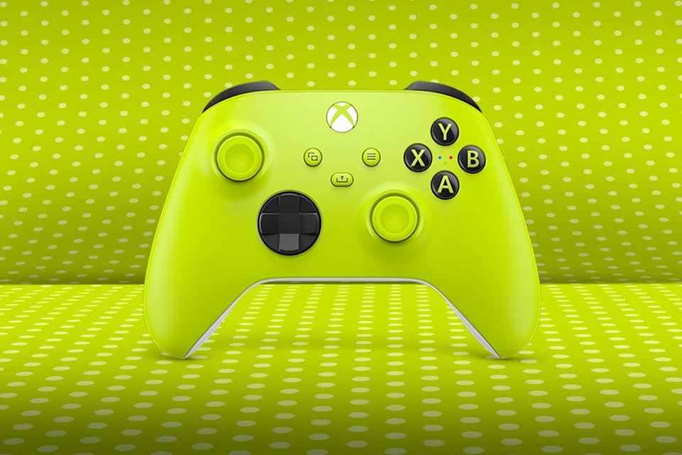 The new Electric Volt yellow Xbox controller.