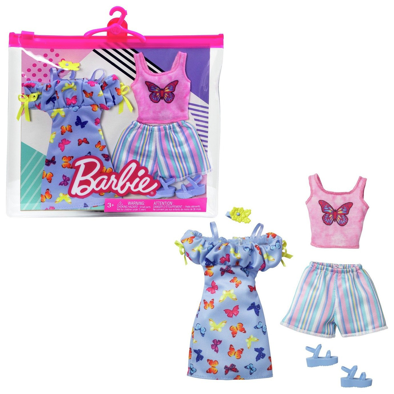 barbie day fashion assortment  2 pack