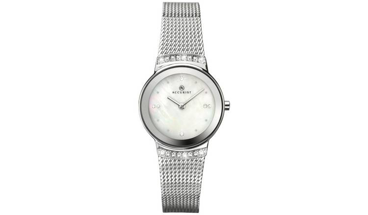Accurist Ladies Silver Mesh Strap Watch