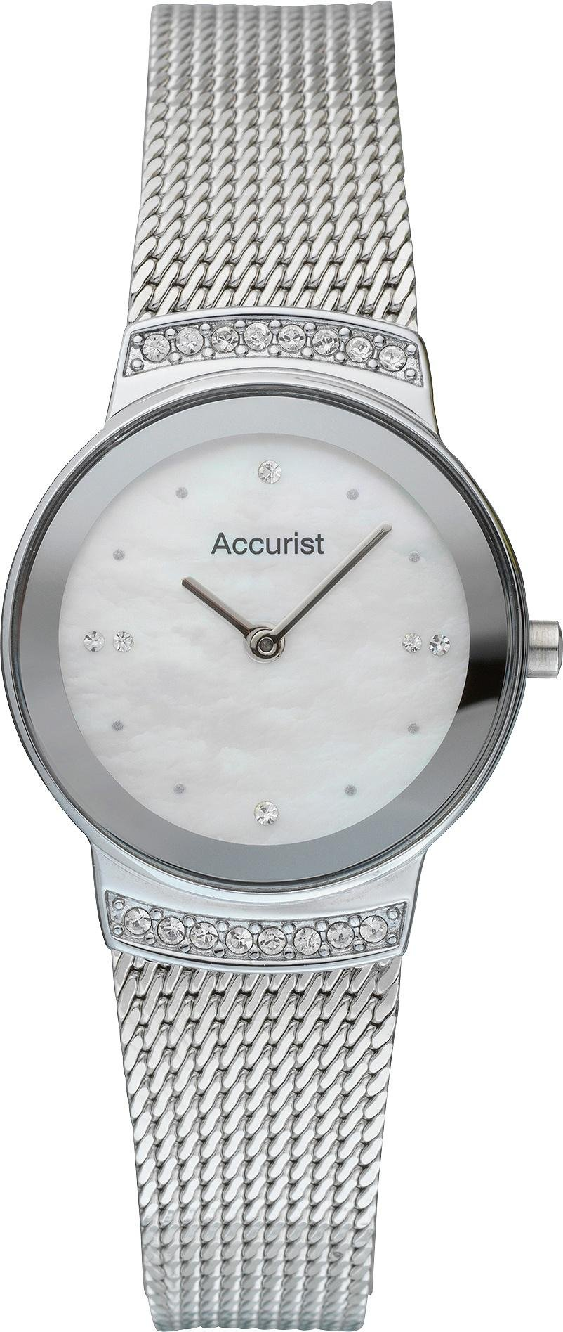 Image of Accurist - Ladies Silver Plated Mesh Strap - Watch