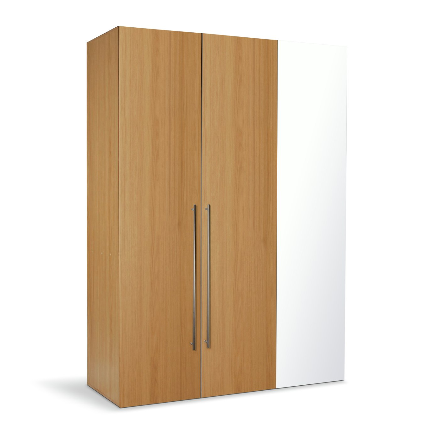 Argos Home Atlas 3 Door Mirrored Wardrobe