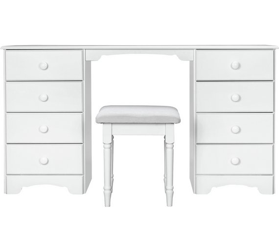 Buy HOME Nordic Drawer Dressing Table And Stool White At Argos - White dressing table argos