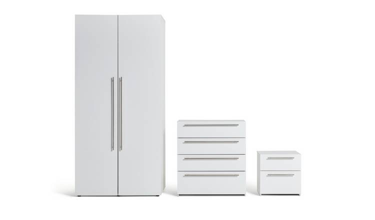 Habitat Atlas 3 Piece 2 Door Wardrobe Set - White