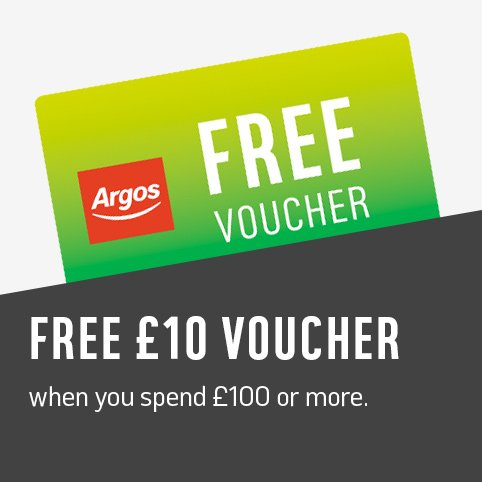 Get a free £5 voucher when you spend £50 or more and a free £10 voucher when you spend £100 or more.