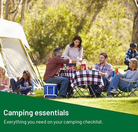 Camping essentials. Everything you need on your camping checklist.