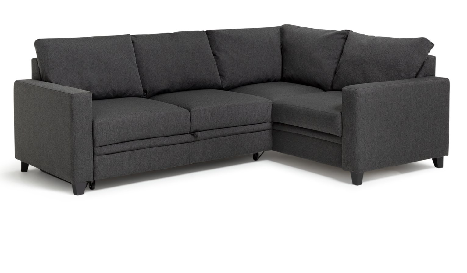 Sale on hygena seattle fabric right hand corner sofa bed for Charcoal sofa