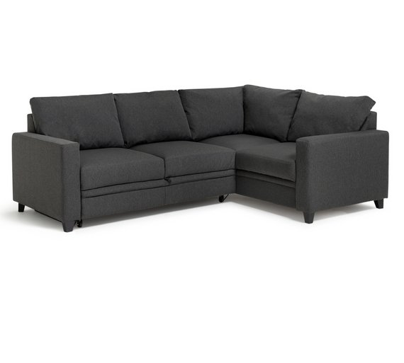Buy hygena seattle fabric right hand corner sofa bed for Furniture assembly seattle