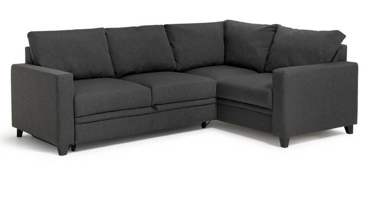 Habitat Seattle Right Corner Fabric Sofa Bed - Charcoal