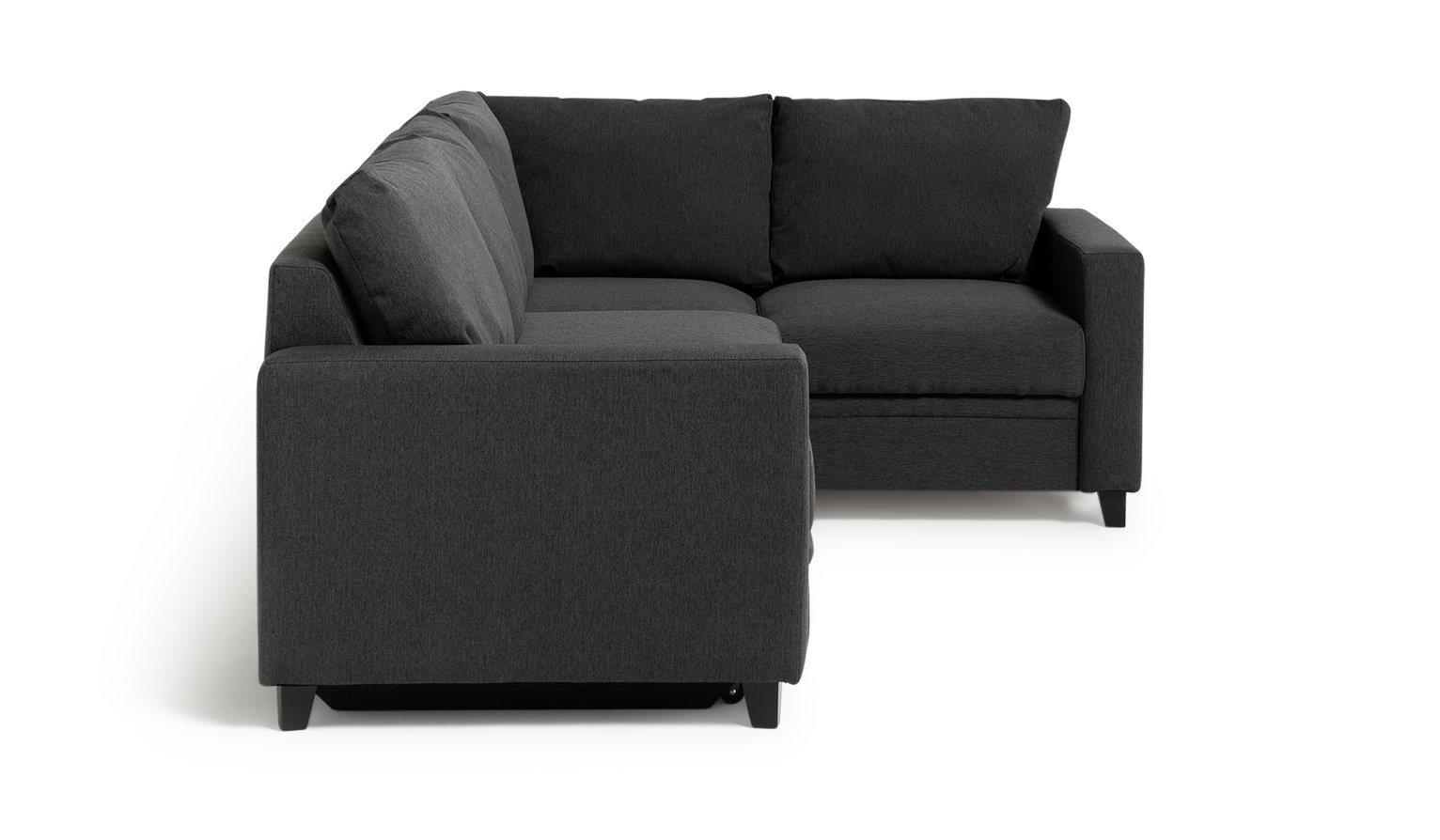 Argos Home Seattle Right Corner Fabric Sofa Bed - Charcoal