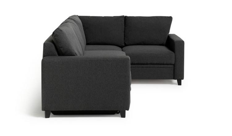 Buy Argos Home Seattle Right Corner Fabric Sofa Bed - Charcoal ...