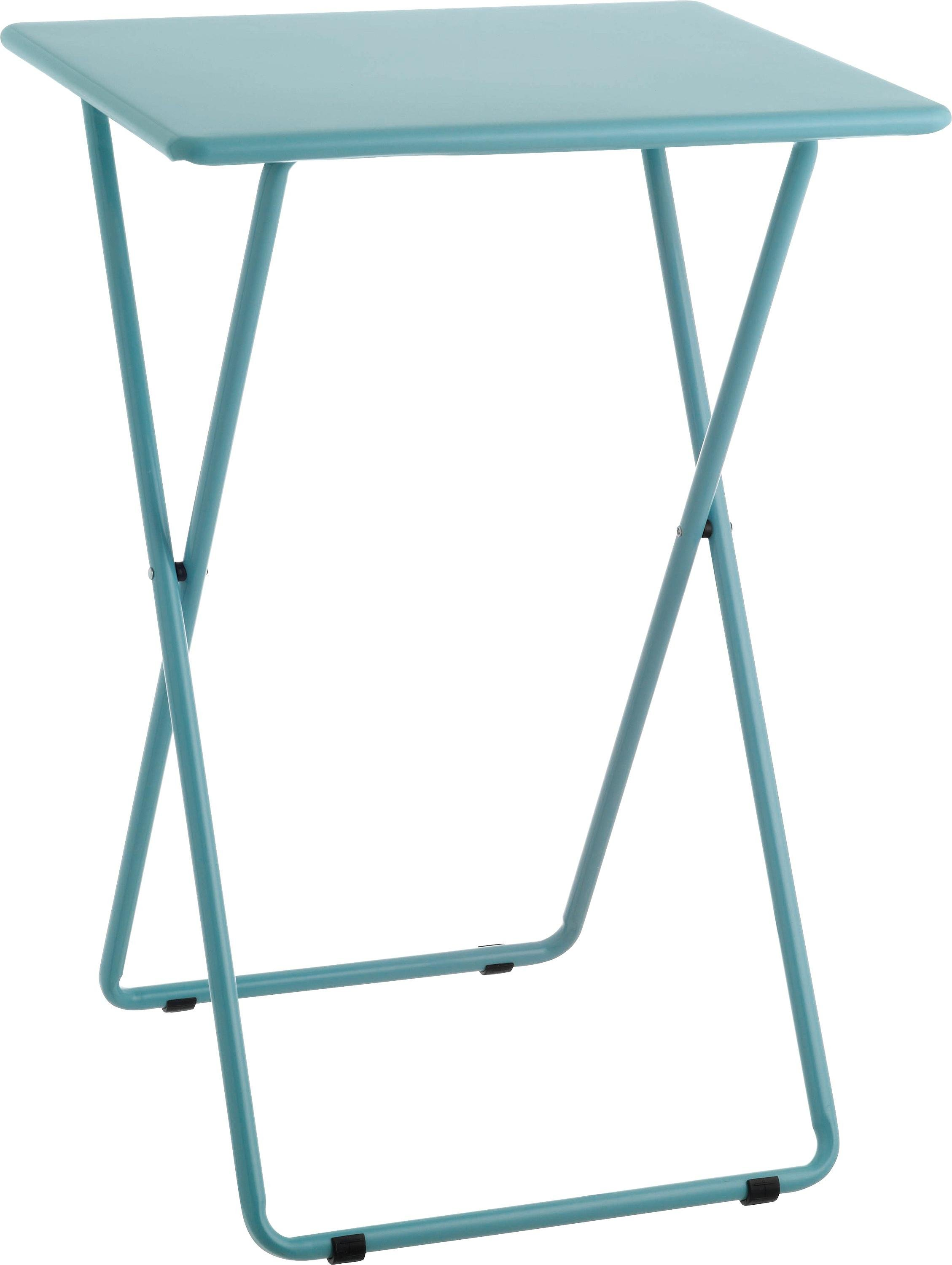 Habitat Airo Metal Folding Table - Sea Blue
