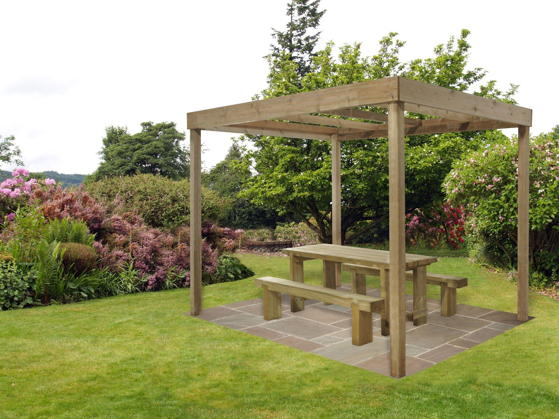Forest Dining Pergola without Panels.