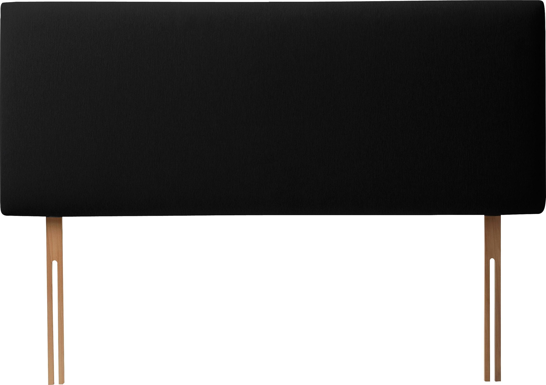 silentnight milan small double headboard black
