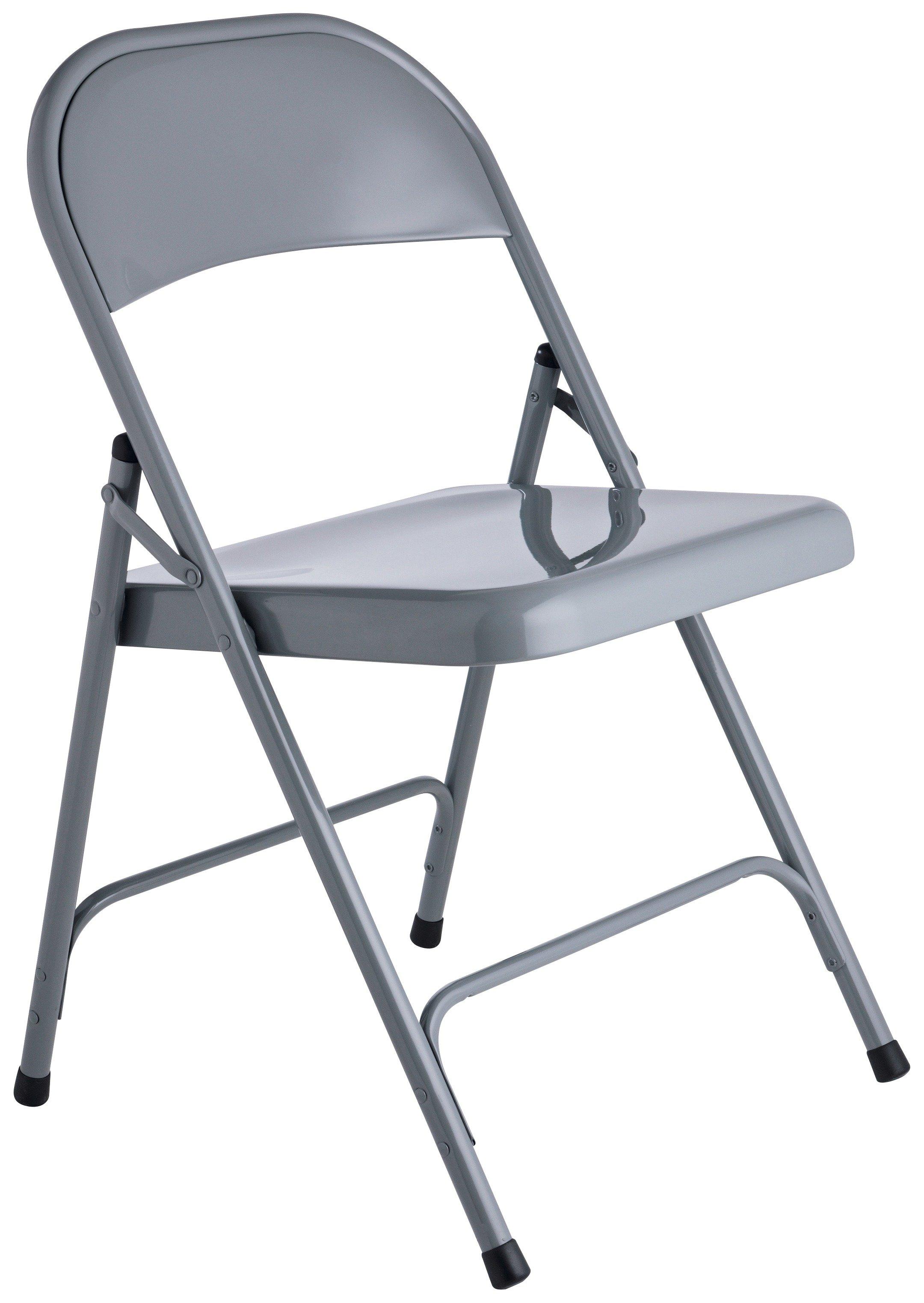 buy habitat macadam metal folding chair - grey at argos.co.uk