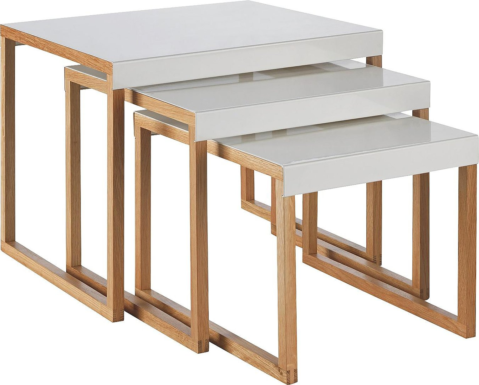 Habitat Kilo Nest of 3 Tables - White
