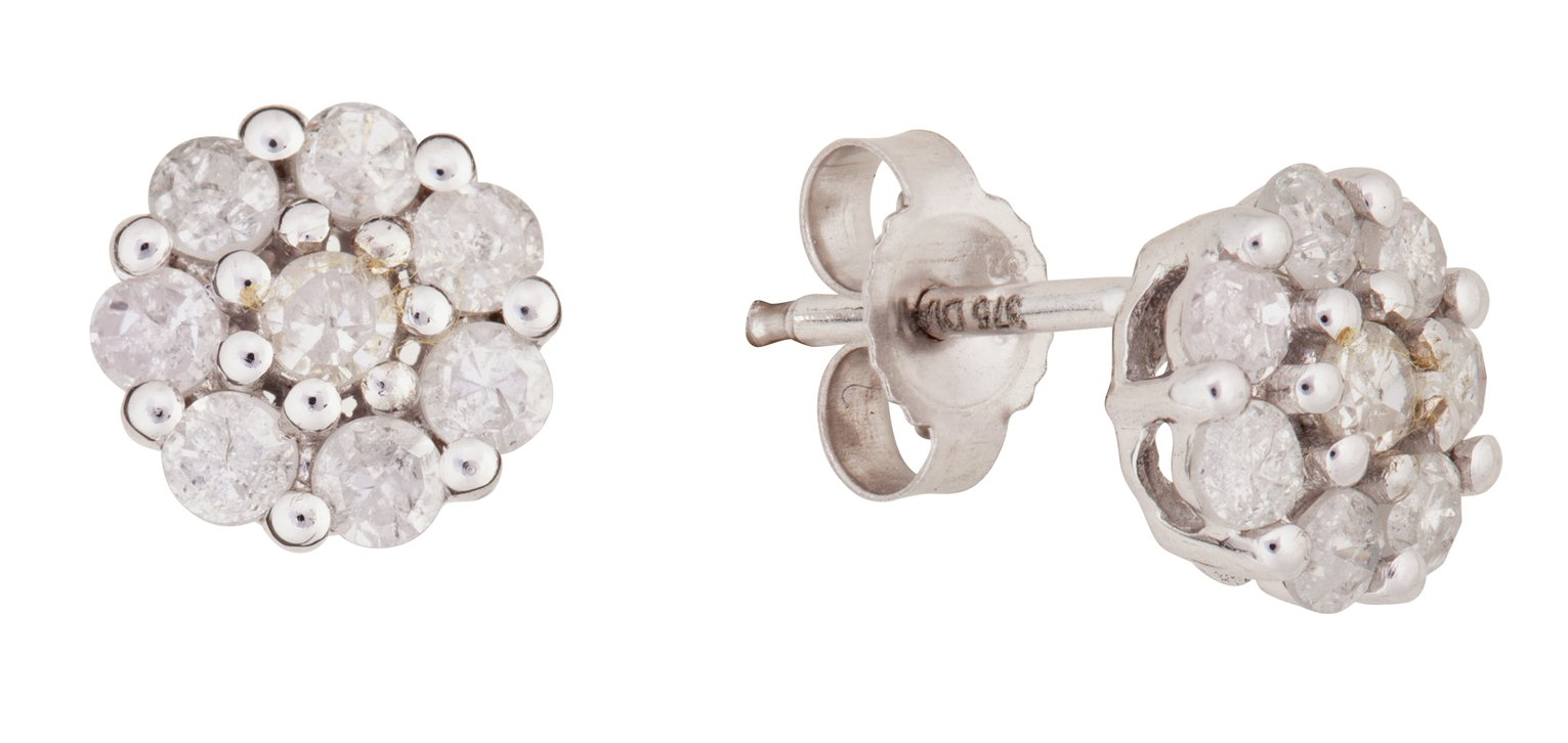 9-carat-white-gold-050-carat-tw-diamond-cluster-earrings