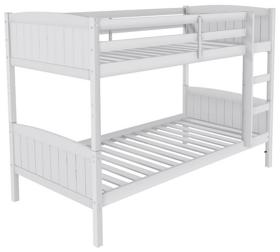 Buy home detachable single bunk bed frame with storage for White bunk bed frame