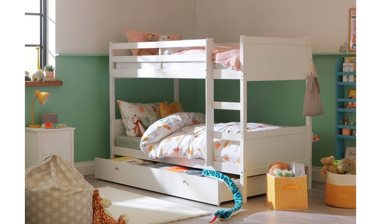 Argos Home Detachable Bunk Bed with Storage - White
